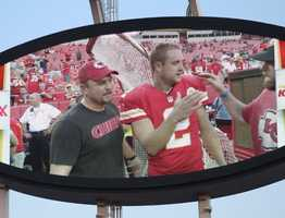 On the eve of the Royals first playoff appearance since 1985, players showed up for Monday Night Football at Arrowhead Stadium.  The baseball club from across the parking lot inspired the Chiefs.  Kansas City dominated the New England Patriots, winning 41-14.  Tuesday the Royals host the Oakland A's at Kauffman Stadium.