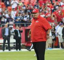On the eve of the Royals first playoff appearance since 1985, players showed up for Monday Night Football at Arrowhead Stadium.  The baseball club from across the parking lot inspired the Chiefs.  Kansas City dominated the New England Patriots, winning 41-14.  Coach Andy Reid said that the Royals players in attendance motivated his team.  Reid said this is an exciting time for Kansas City sports fans.  Coincidentally, Reid says he will give his players a day off on Tuesday.