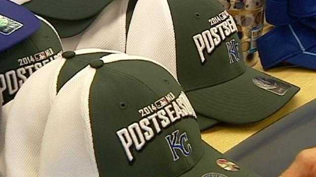Sales of Royals-related merchandise, especially items celebrating the team's postseason run, are proving to be strong sellers right now.