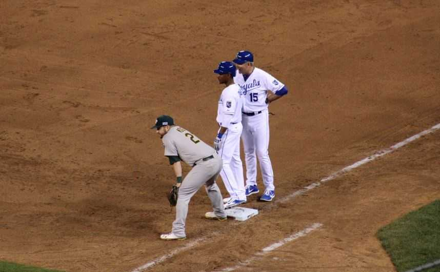 The Kansas City Royals host the Oakland Athletics in the AL Wild Card game.  Down one run in the bottom of the ninth inning, Jarrod Dyson pinch runs for Josh Willingham after he singled.