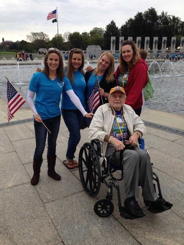 Heartland Honor Flight veterans visit the World War II Memorial in Washington, D.C. Private Leslie Page served under General Patton in World War II. Tuesday he made new friends in the nation's capital.