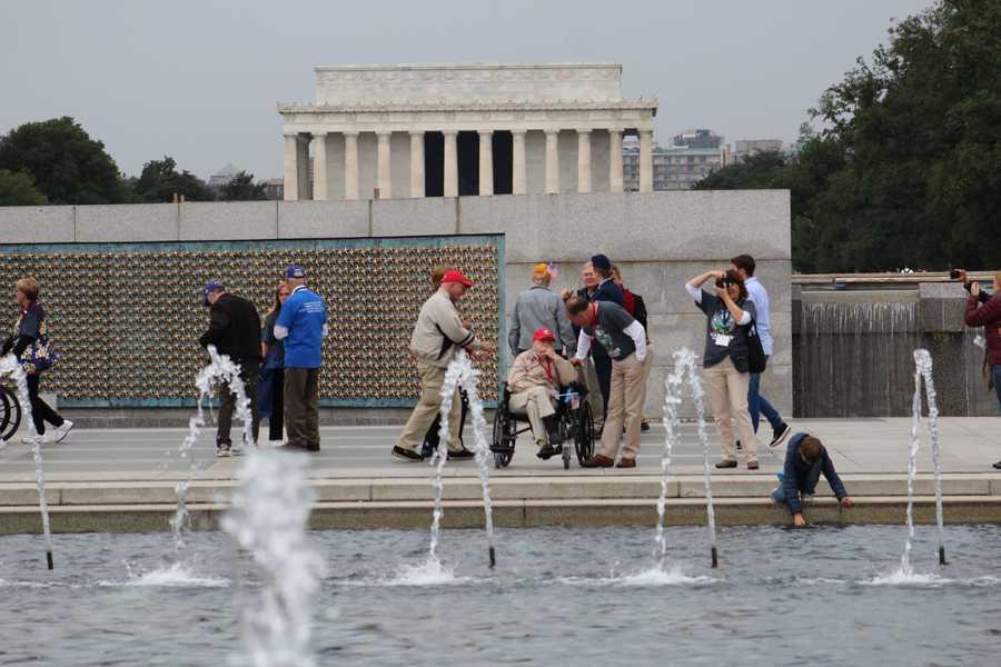 Heartland Honor Flight veterans visit the World War II Memorial in Washington, D.C.
