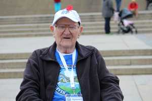 Heartland Honor Flight veterans visit the Korean War Memorial.  World War II veteran Raymond Gorman reflects on his multiple tours of duty in the Pacific.