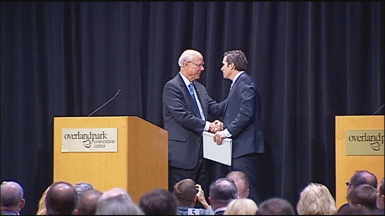 Sen. Pat Roberts and challenger Greg Orman squared off over gridlock, health care reform and who will determine the future control of the U.S. Senate during their debate in Overland Park on Wednesday.