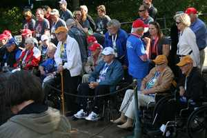 Seats are reserved first for veterans of World War II on the Heartland Honor Flight.  Many Korean War veterans were also on the flight Tuesday.