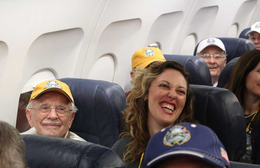 Photos from aboard the Heartland Honor Flight