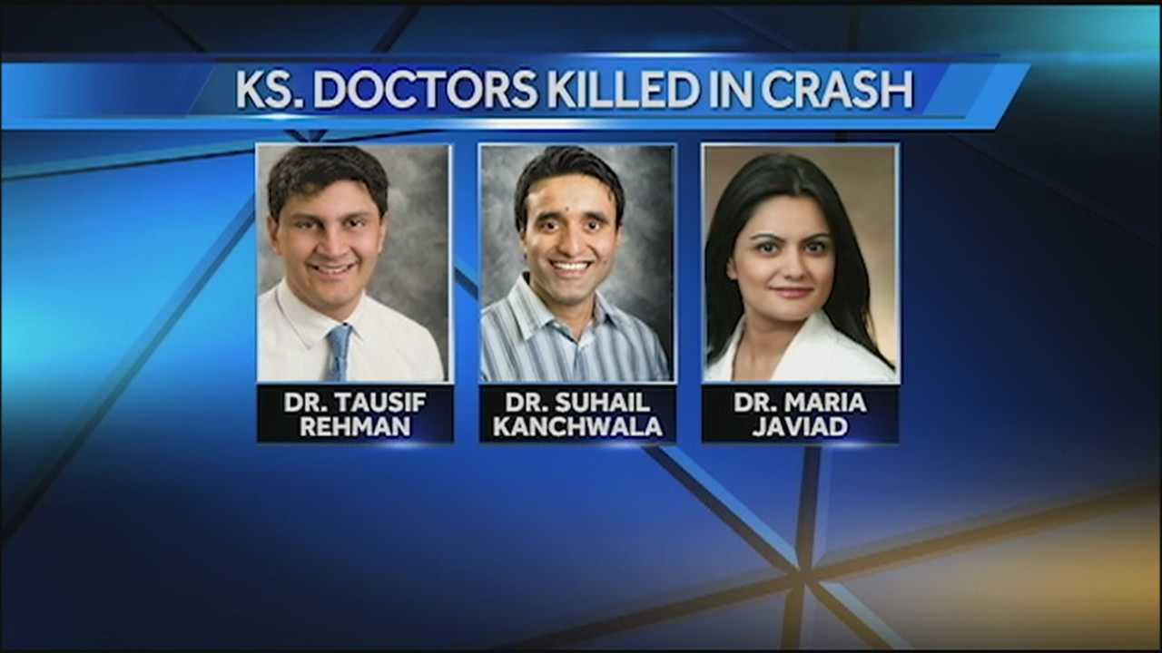 A Kansas medical community is mourning three doctors who were killed in a plane crash late Sunday.