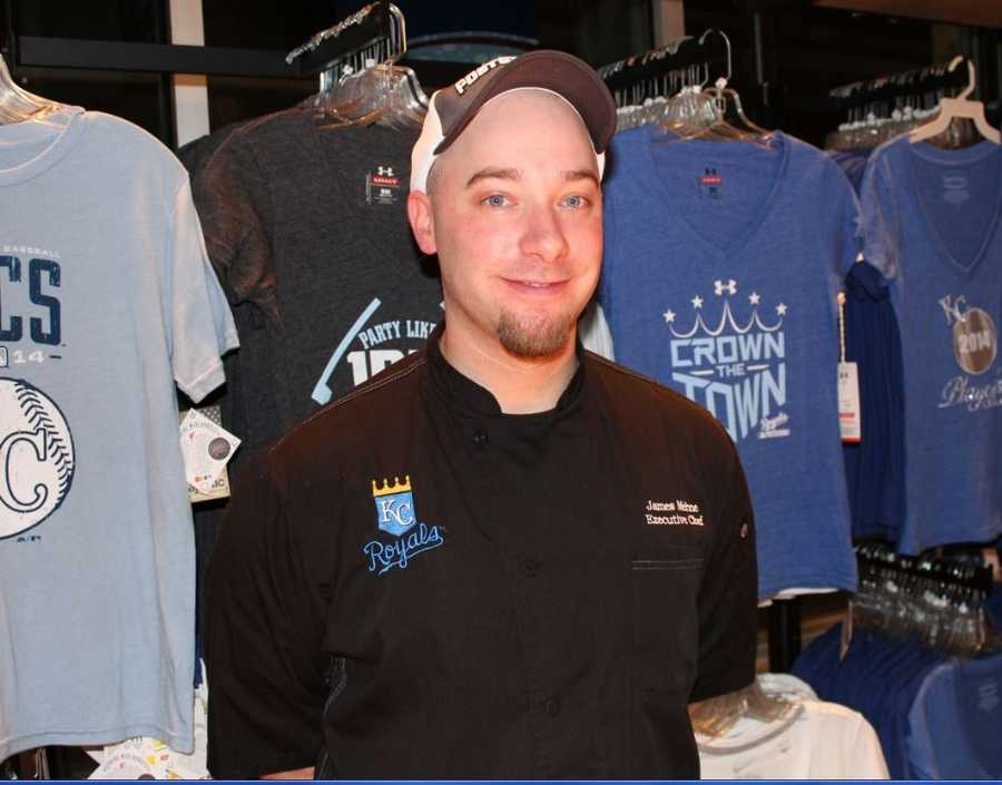 Executive Chef James Mehne and the crew at Aramark are swinging for the fences with their ALCS menu.  Click here to see the new merchandise for the Royals playoffs.