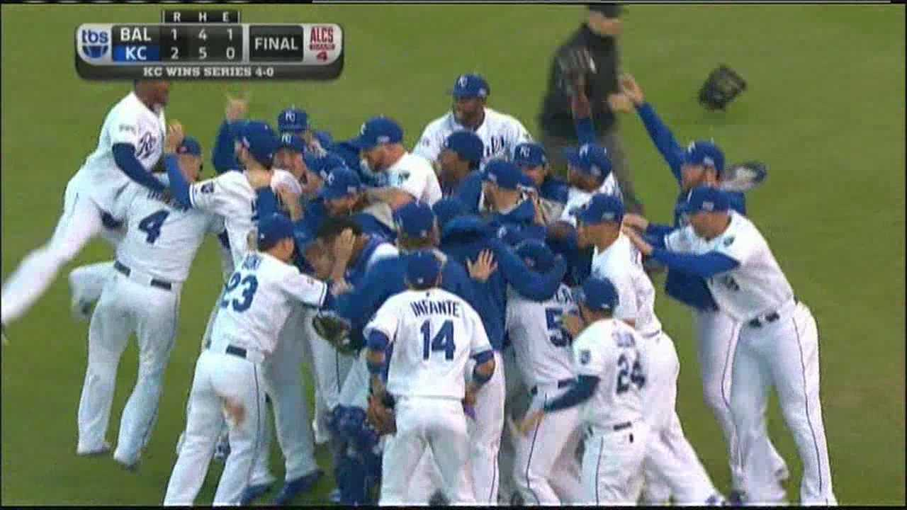 The celebration began at the final out and probably extended deep into the night as the Kansas City Royals made it to the World Series for the first time since 1985.