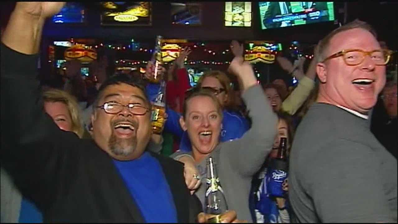 Royals fans packed into watering holes in Waldo and other parts of the Kansas City metropolitan area to celebrate the Royals victory in the ALCS.