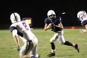 """Mill Valley jumped out to a 7-0 lead at home. This was the KMBC HyVee Game of the Week. Mill Valley also hosted a """"pink out"""" event with multiple fundraisers for cancer treatment at the University of Kansas Hospital."""