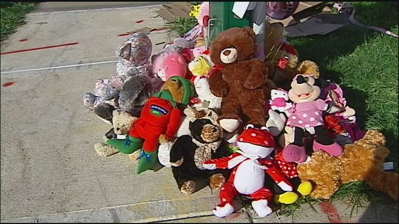 The family of a 6-year-old girl who was killed in a drive-by shooting Friday night has thanked the public for its show of support, which has grown throughout the weekend outside the store where the shooting happened.
