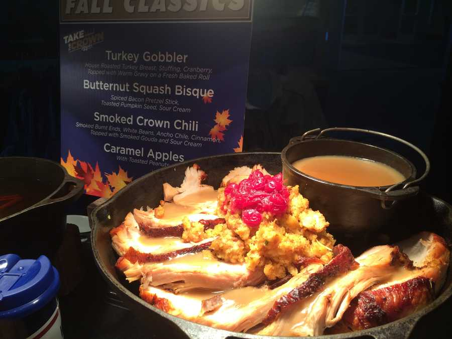 The World Series menu includes turkey and butternut squash bisque.
