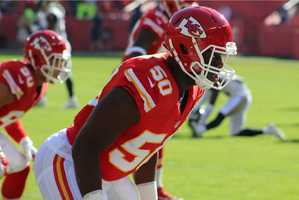 Chiefs linebacker Justin Houston led the defense in a dominating performance. He finished with 5 tackles and 3 sacks. Kansas City beat the visiting St. Louis Rams, 34-7.