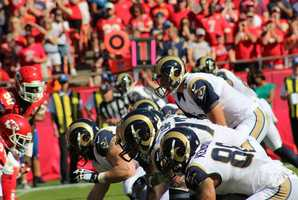 Rams quarterback Austin Davis started for St. Louis. This is his first season as a starter.