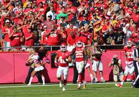 Jamaal Charles scored two touchdowns on 73 yards rushing.