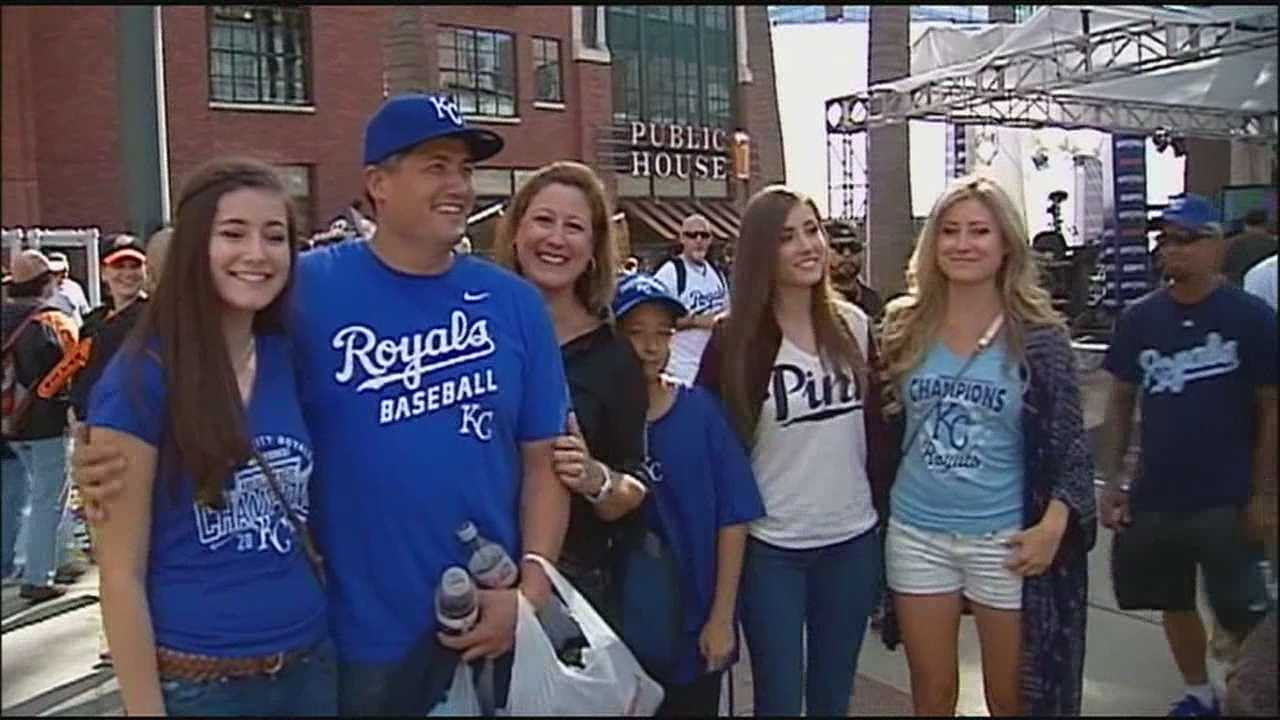 KMBC 9's Lara Moritz spotted some Royals fans near AT&T Park and they turned out to be Jeremy Guthrie's oldest brother and his family.