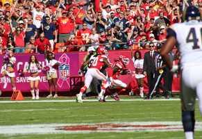 Chiefs cornerback Husain Abdullah intercepted a deep Austin Davis pass in the first quarter to turn around the momentum.