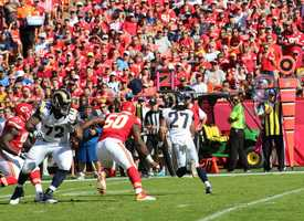The Rams offense was slowed the entire game. Running backs Tre Mason and Benny Cunningham were held to 32 and 27 yards respectively.