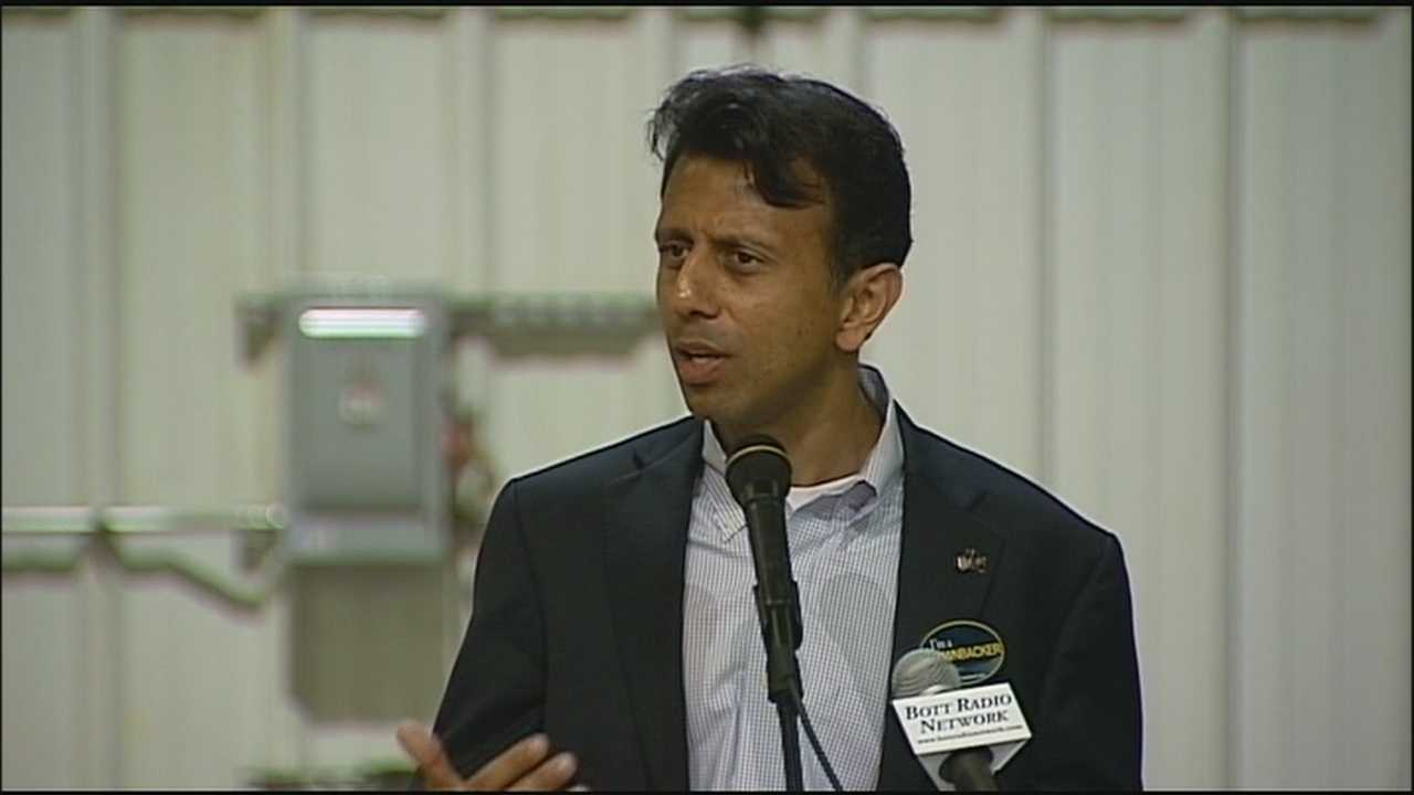 Louisiana Gov. Bobby Jindal, a potential presidential candidate in 2016, came to Gardner to campaign for Gov. Sam Brownback late Monday afternoon.