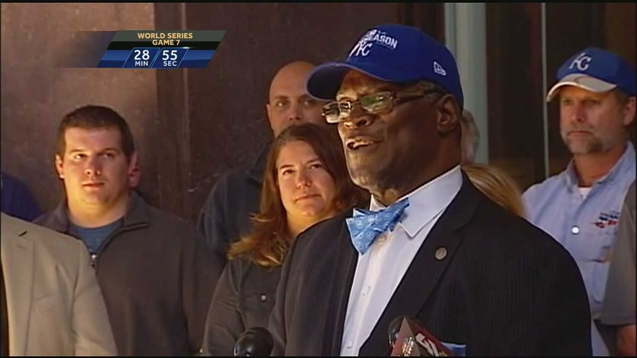 Kansas City Mayor Sly James said it's impossible to measure the positive impact that the World Series has had on the city, especially in the way it's letting people from all over the world discover what the city has to offer.