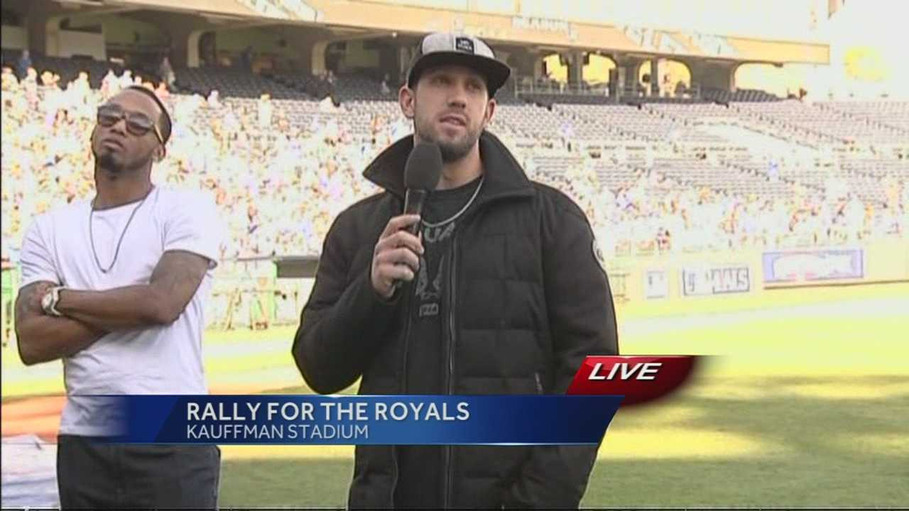 Hear from Kansas City Royals pitcher James Shields as he speaks at Thursday's rally at Kauffman Stadium.