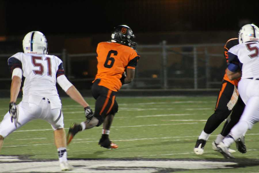 Bonner Springs running back Marcell Holmes and the offense came alive in the second half.