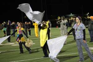 There was no score at halftime. Bonner Springs (6-2) hosted St. James Academy (6-2) on Halloween night.