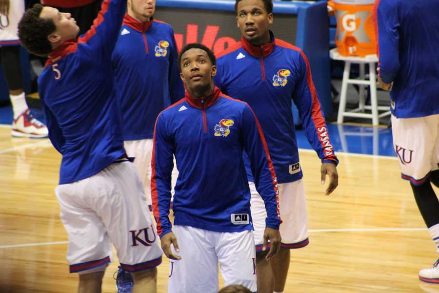 The Kansas Jayhawks hosted the Washburn Ichabods in the first of two preseason games at Allen Fieldhouse.