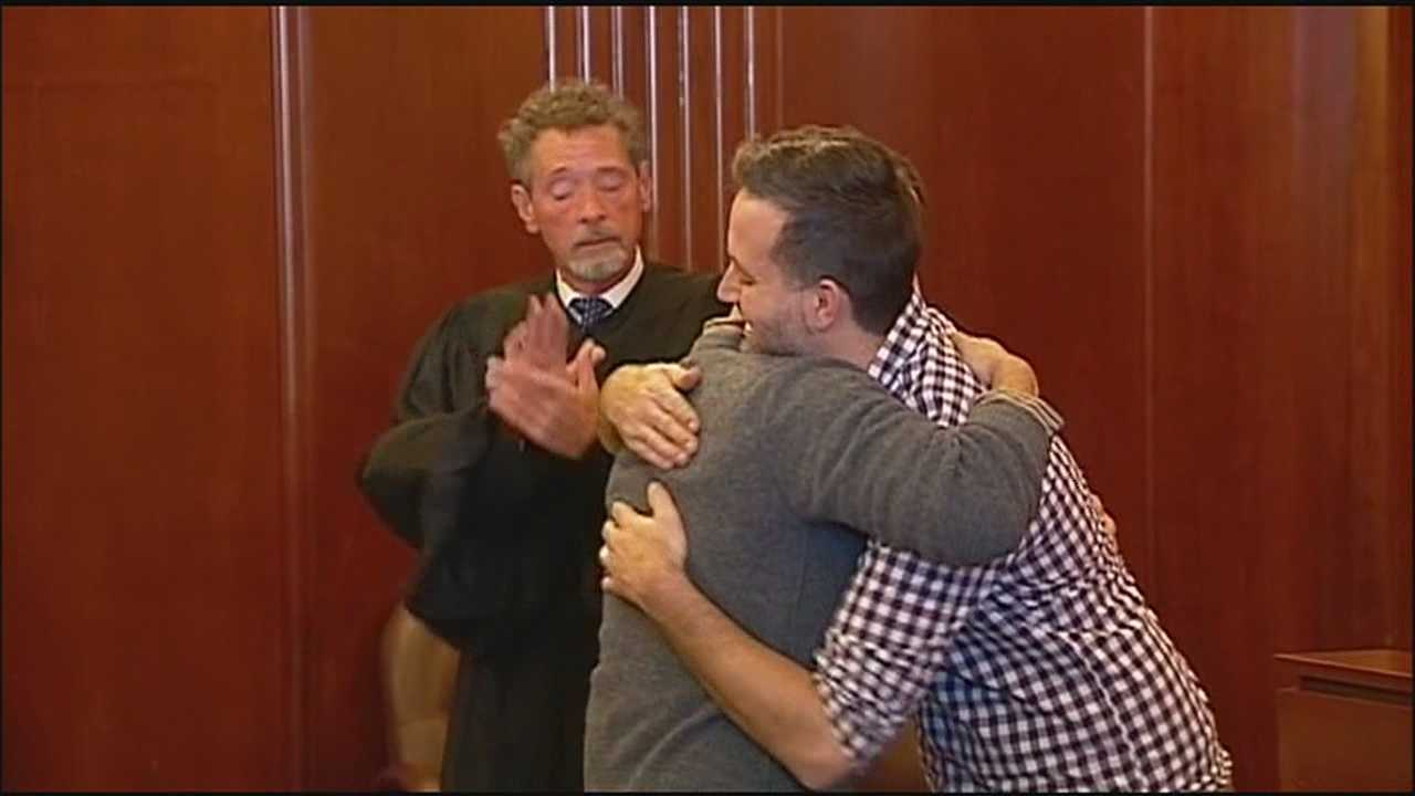 """I pronounce you husband and husband, you may kiss your husband,"" a justice of the peace said in Jackson County, Mo., on Friday afternoon."