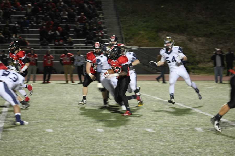 Running back Matt Harris had the play of the game in the 2nd quarter.