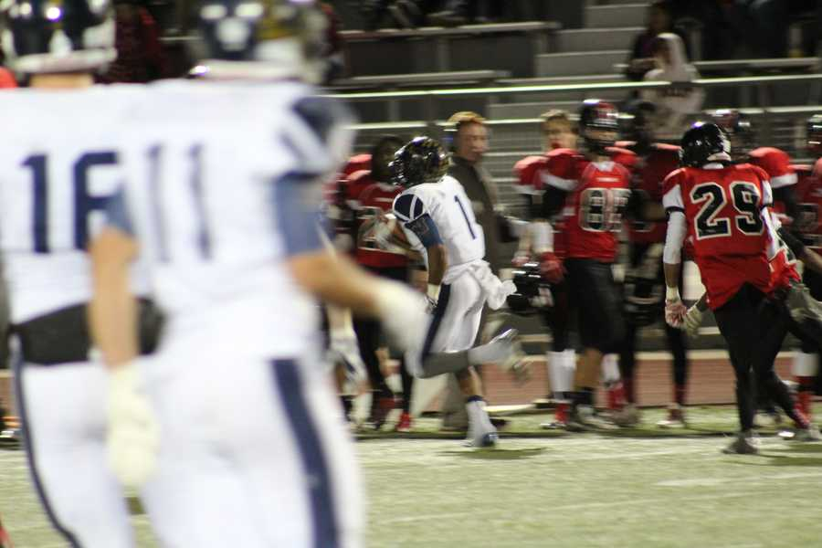 Liberty North answered back with a simple screen pass to Kiandre Pugh that turned into a huge gain.