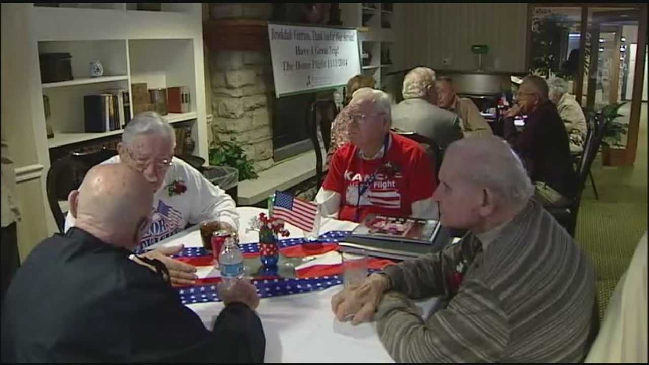 A group of World War II veterans from the Kansas City area will be spending Veterans Day on an Honor Flight to Washington, D.C.