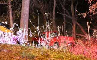 A man is in serious condition after losing control of his pickup truck.  The 32-year-old drove down a ravine in Swope Park Monday night.  Kansas City police say the man was speeding.