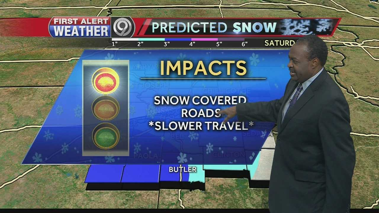 Temperatures are expected to stay very cold ahead of Saturday's expected snow that could leave several inches of accumulation across the Kansas City metropolitan area.