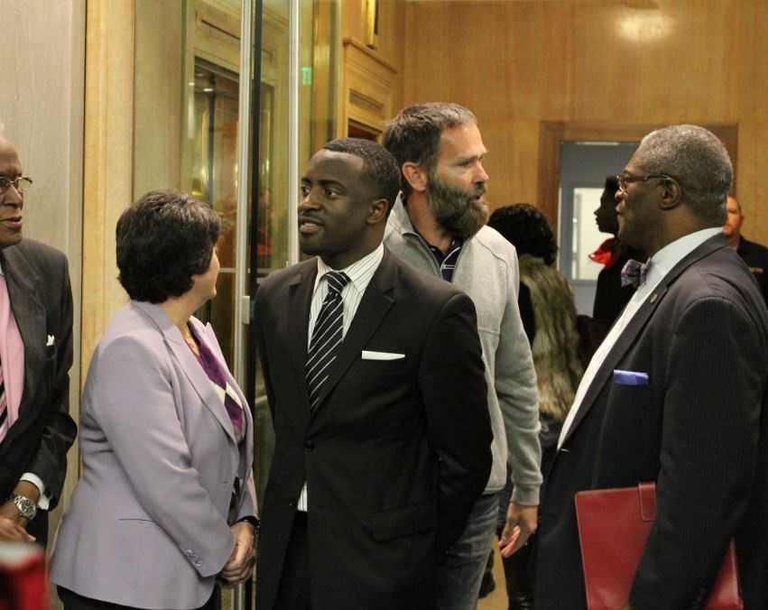 City Councilman Jermaine Reed was onhand for the dedication.