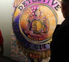 New graphic work helps greet police officers and visitors at every floor.