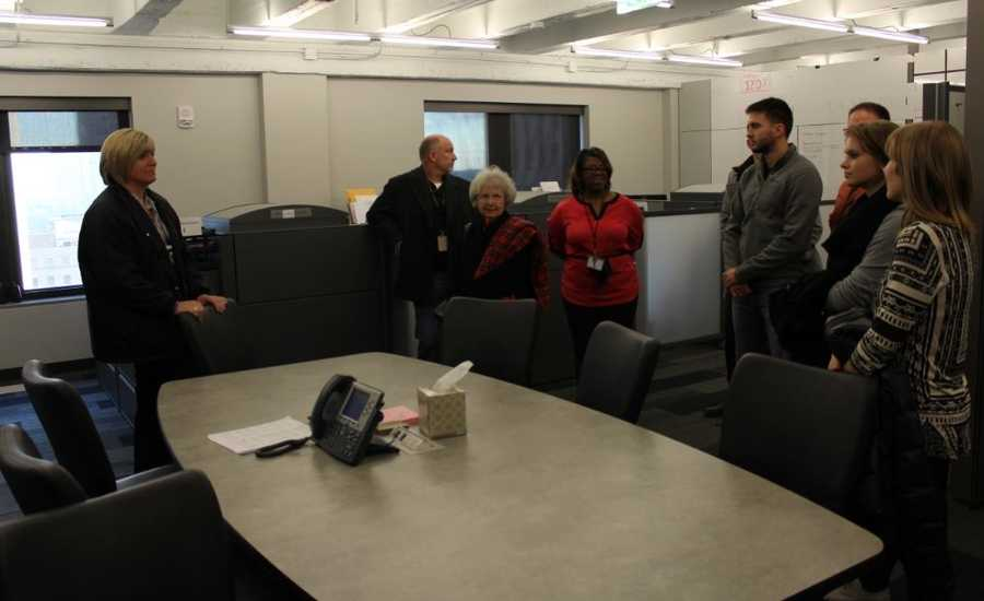 Members of the community came to tour the multiple floors of Kansas City police's newly remodeled offices.