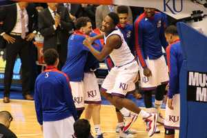Kansas opened its 2014-15 basketball season at home against UC Santa Barbara at Allen Fieldhouse.