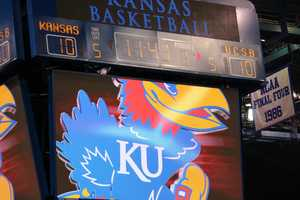 It was a sloppy first half, by Kansas basketball standards. The teams were tied at just 10 points apiece after nine minutes of play.