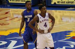 Guards Zalmico Harmon and Devonte' Graham battled one another, trading offensive flurries. Harmon got hot in the second half, scoring six points including a three pointer.