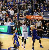 Freshman Cliff Alexander awoke in the second half on the offensive end. A powerful dunk in the second half gave the Jayhawks a comfortable lead. Kansas won by a final score of 69-59. Alexander finished with 9 points in twelve minutes played.