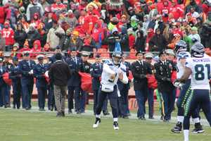 The Kansas City Chiefs honored veterans and active-duty members as part of Military Appreciation Month.  The defending Super Bowl Champion Seattle Seahawks visited Arrowhead Stadium on Sunday.