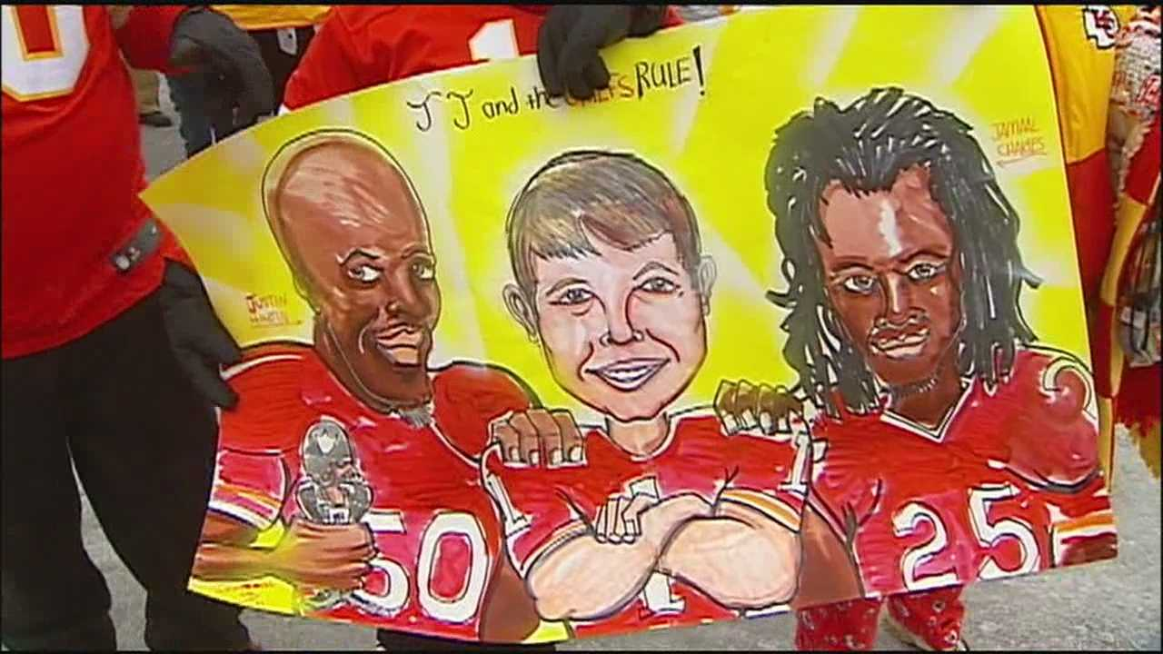 Kansas City Chiefs fans have rallied in support of 7-year-old J.J. Beemer, who has been in a coma after being hit by an SUV earlier this month.