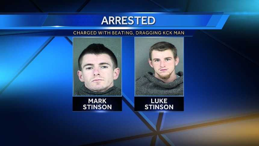 Luke and Mark Stinson of Edwardsville, Kan. are charged with Aggravated Robbery and Aggravated Battery.