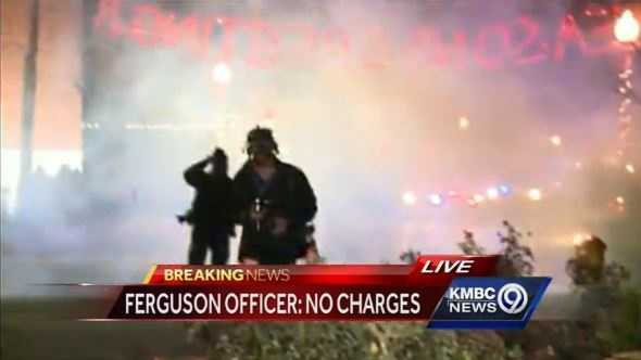 St. Louis County police clarify on Twitter that smoke, not tear gas is being used in Ferguson.
