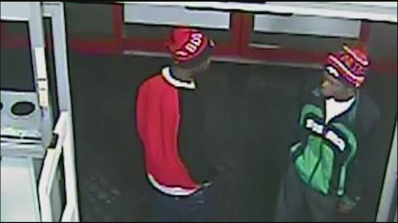 Overland Park police are looking for two would-be thieves who pepper-sprayed a clerk who confronted them during an attempted theft at the store.