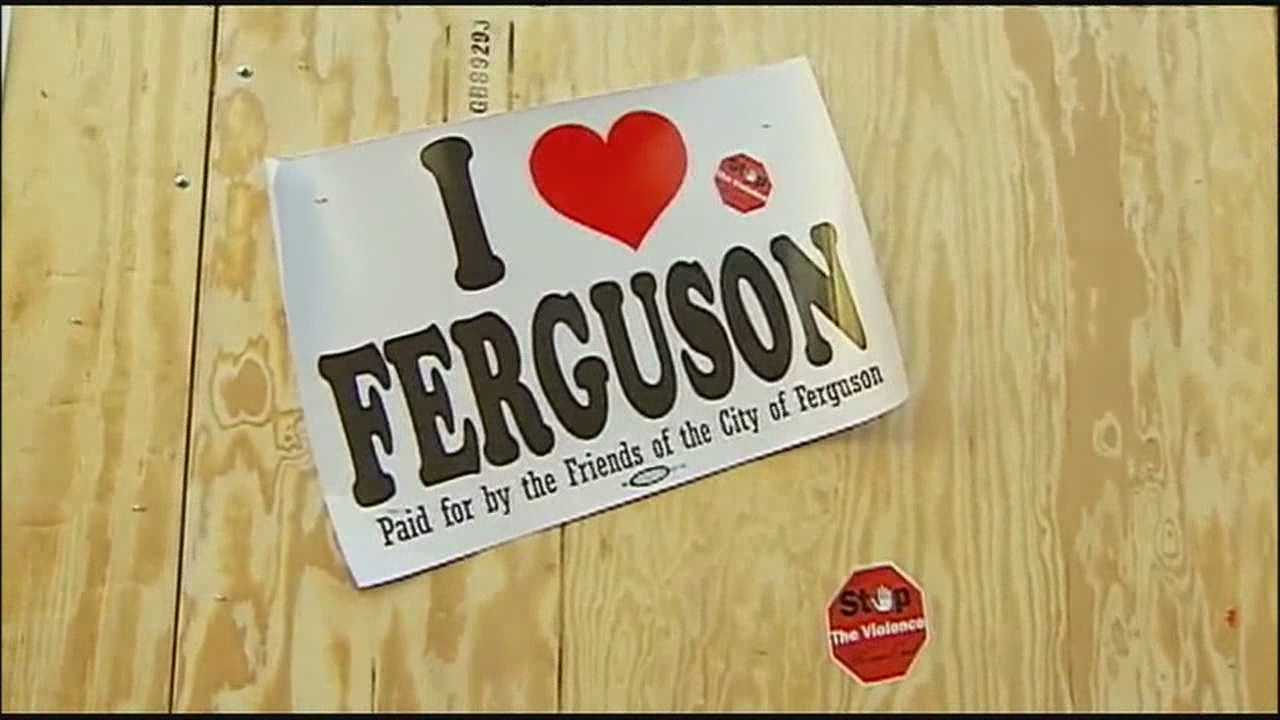 People in Ferguson, Missouri, said they still have a lot to thankful for, despite the violence that rocked the city following this summer's police shooting and this week's announcement that Officer Darren Wilson won't be indicted.