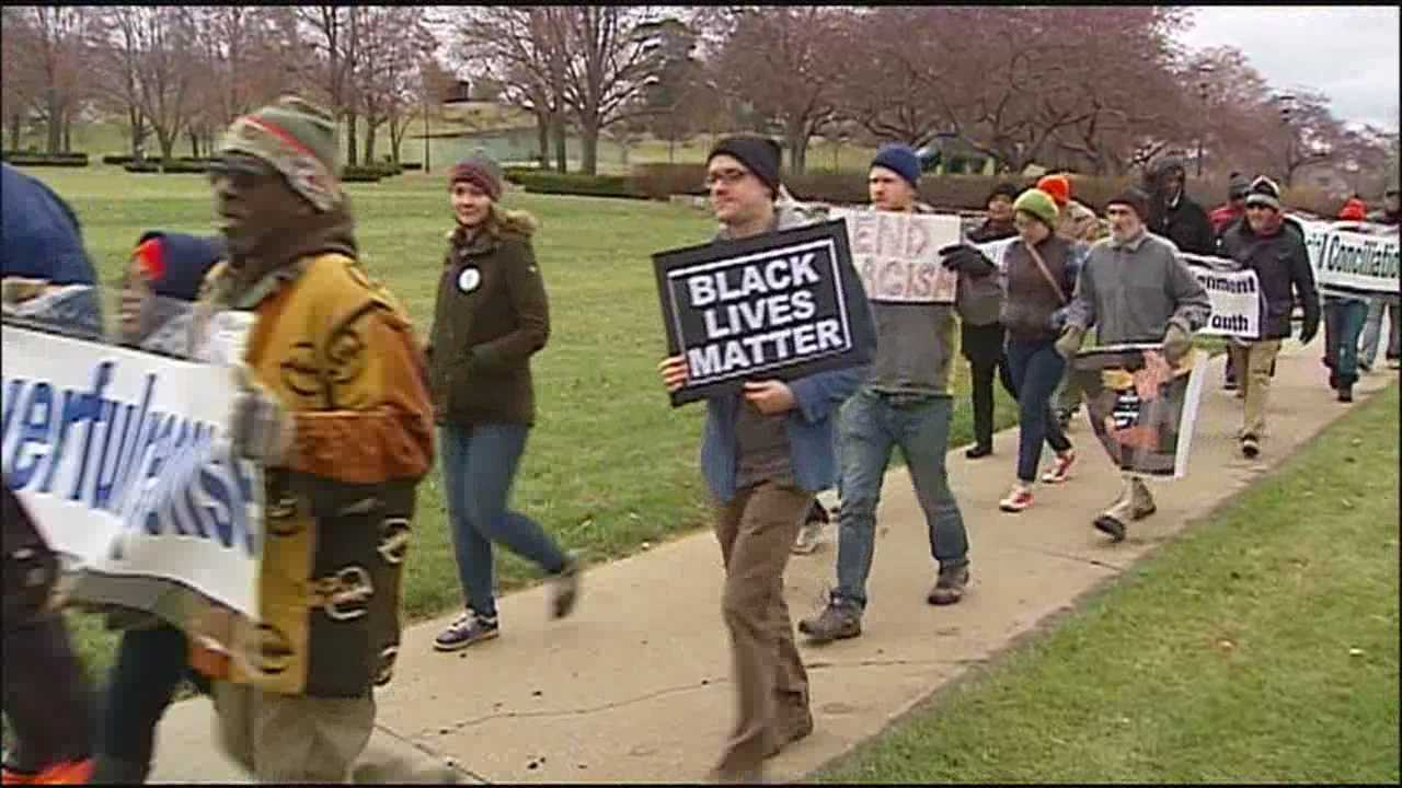 People who attended a Ferguson protest in Kansas City on Wednesday said they hope to use outrage over the police shooting and lack of charges in that city to help bring change in other ways.