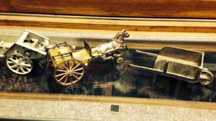 This antique toy is one of many items taken during two thefts from the Agricultural Hall of Fame in Bonner Springs earlier this year.